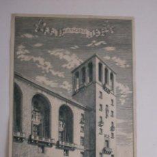 Arte: LÁMINA LA TORRE DE LA NUEVA FACHADA DEL MONASTERIO ( EN CONSTRUCCIÓN ) DE MONTSERRAT . Lote 123358499