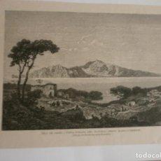 Arte: LÁMINA ISLA DE CAPRI VISTA TOMADA DEL NATURAL DESDE MASSA- LUBRENSE ( NIEDERHAUSERN- KOECHLIN ). Lote 123359259