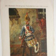 Arte: LÁMINA CHR. HOSTMANN-STEINBERG'SCHE FARBEFABRIKEN GMB H., CELLE ALEMANIA EXPO BARCELONA . Lote 123360287