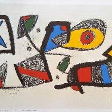 Arte: REPRODUCCION DEL ORIGINAL DE JOAN MIRO 1980-1985 EXCLUSIBA A EMPLEADOS DIRECTIVOS LA CAIXA 42X69 CM. Lote 124499767