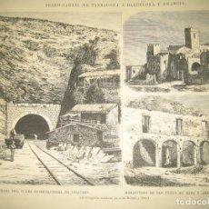 Arte: FERROCARRIL DE TARRAGONA A BARCELONA, FRANCIA Y MONASTERO DE SAN PEDRO DE RODA. Lote 124755371