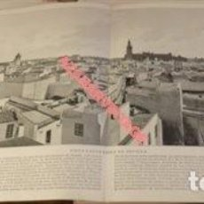 Arte: LAMINA FOTOGRAFICA: VISTA PANORAMICA DE SEVILLA. AÑO 1896. 57 X 20 CM.. Lote 124910395