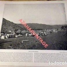 Arte: LAMINA FOTOGRAFICA DE RIPOLL GERONA, VISTA DE LA VILLA. FOT.JOARIZTI Y MARIEZ. AÑO 1896. Lote 124917103