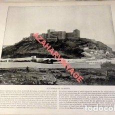 Arte: LAMINA FOTOGRAFICA DE ALMERIA, LA ALCAZABA. AÑO 1896. 25 X 20 CM.. Lote 124918623