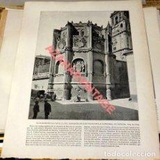 Arte: LAMINA FOTOGRAFICA DE MURCIA, EXTERIOR DE LA CAPILLA DEL MARQUES DE LOS VELEZ. AÑO 1896. 25 X 20 CM.. Lote 124921635