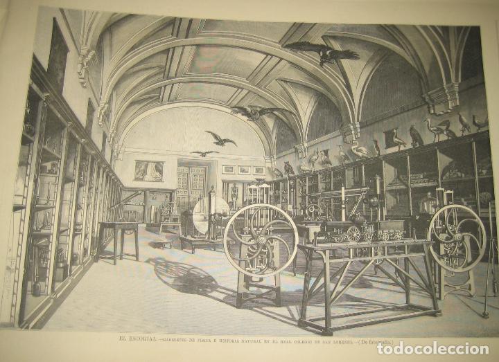 EL ESCORIAL- GABINETE DE FÍSICA E HISTORIA NATURAL (Arte - Láminas Antiguas)