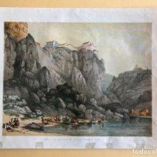 Arte: LÁMINA - EL MIRADOR DE TOLEDO SOBRE EL TAJO . Lote 125383147