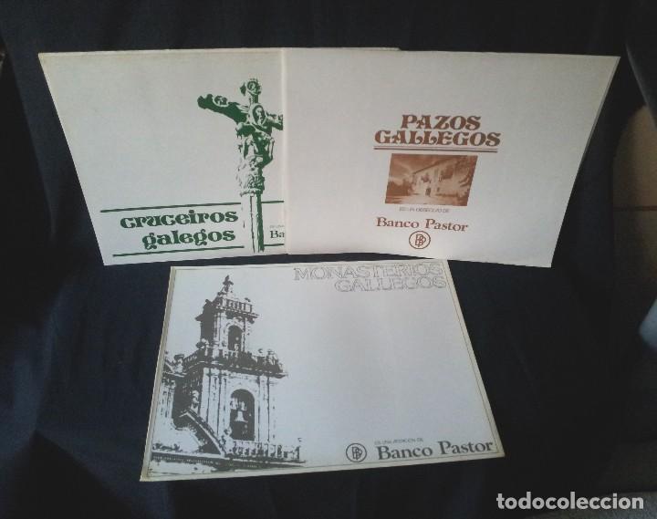 18 LAMINAS DE CRUCEIROS GALLEGOS, PAZOS GALLEGOS Y MONASTERIOS GALLEGOS - BANCO PASTOR (Arte - Láminas Antiguas)