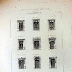 Arte: PORTES D'ALLÉE À PARIS. L'ARCHITECTURE PRIVÉE AU XIXME SIÈCLE. 1877. Lote 126362691