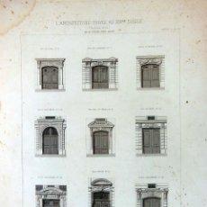 Arte: PORTES BATARDES À PARIS. L'ARCHITECTURE PRIVÉE AU XIXME SIÈCLE. 1877. Lote 126362967