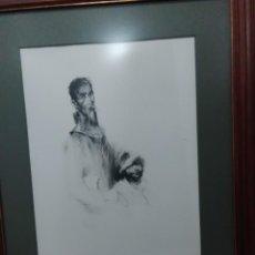 Arte: LAMINA GRABADO DON QUIJOTE Y SANCHO PANZA 80X65 CTMS 55X40 CTMS HUECO. Lote 126592927