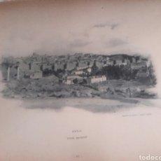 Arte: ÁVILA, VISTA GENERAL SIGLOXIX FOTOTIPIA DE HAUSER Y MENET. Lote 127937736