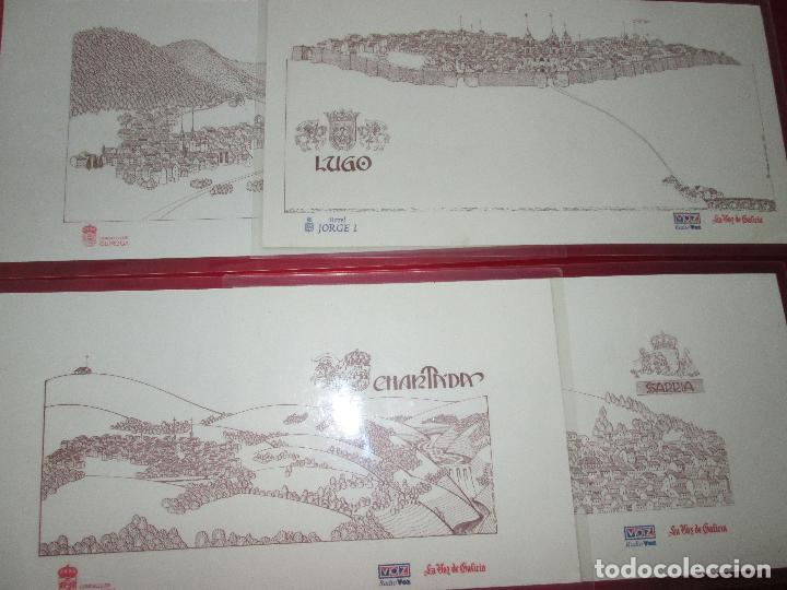 Arte: lote 4 láminas-ciudades gallegas:lugo,chantada,sarria y quiroga-1997-chencho pardo valdés-ver fotos - Foto 2 - 127978731