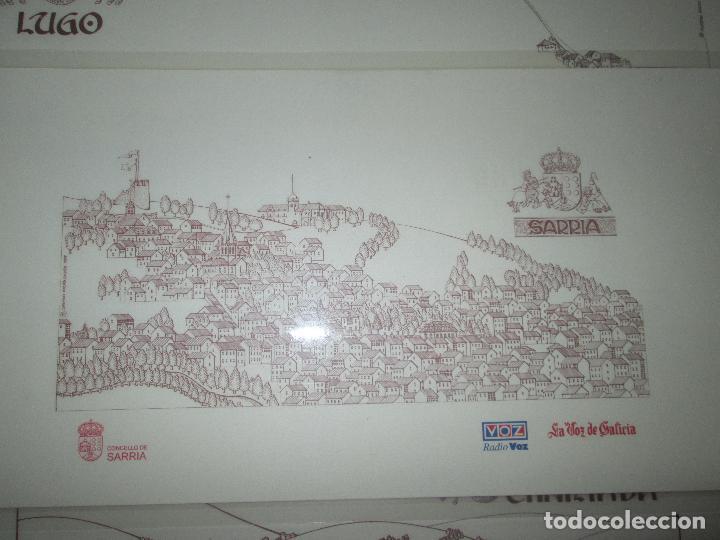 Arte: lote 4 láminas-ciudades gallegas:lugo,chantada,sarria y quiroga-1997-chencho pardo valdés-ver fotos - Foto 3 - 127978731