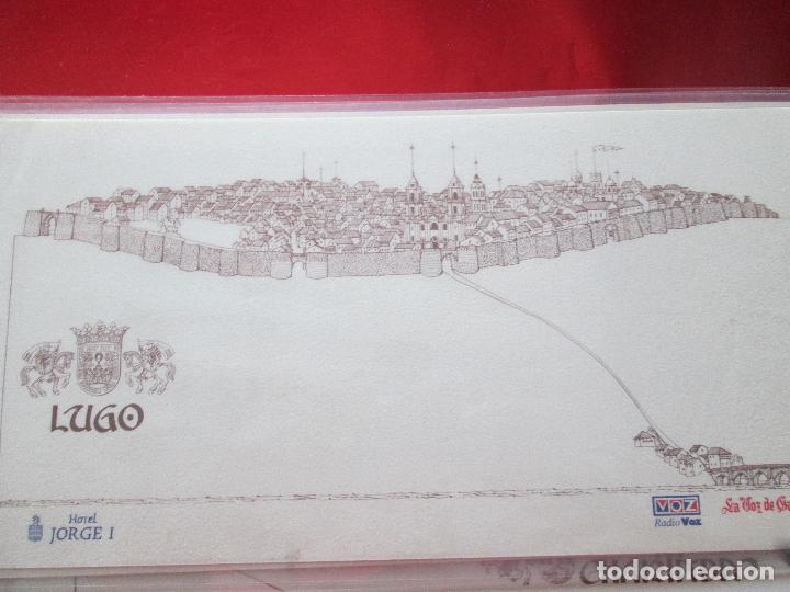 Arte: lote 4 láminas-ciudades gallegas:lugo,chantada,sarria y quiroga-1997-chencho pardo valdés-ver fotos - Foto 4 - 127978731
