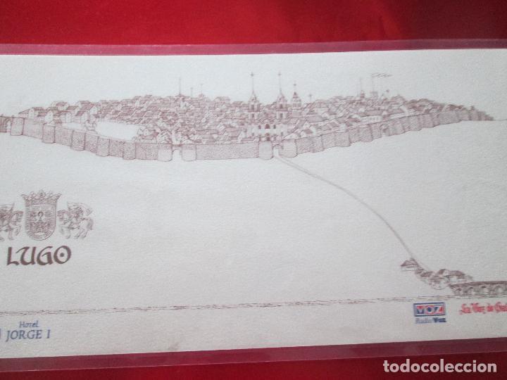 Arte: lote 4 láminas-ciudades gallegas:lugo,chantada,sarria y quiroga-1997-chencho pardo valdés-ver fotos - Foto 11 - 127978731