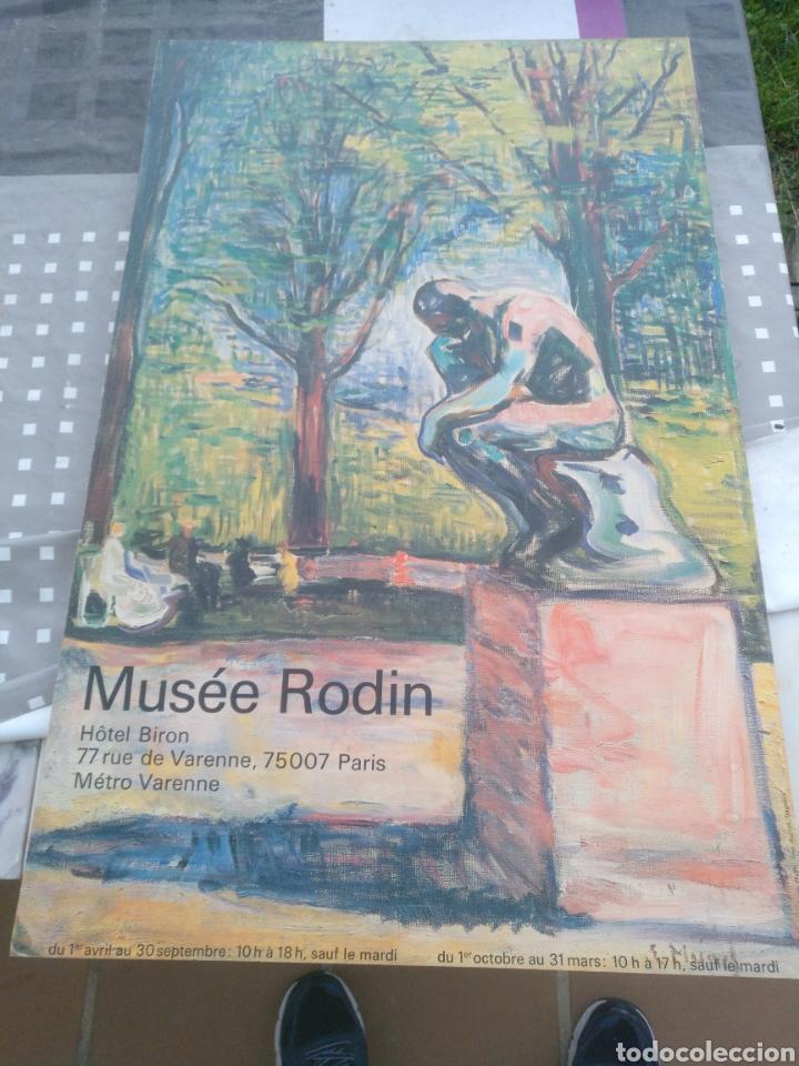 LAMINA ENCUADRADA MUSEE RODIN PARIS (Arte - Láminas Antiguas)