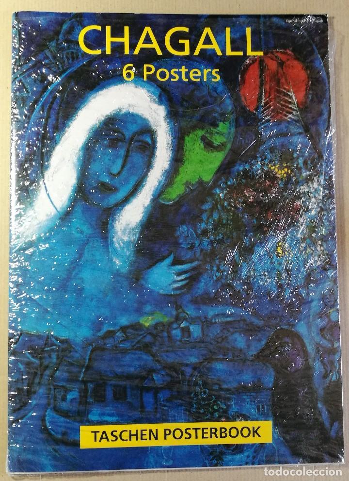 CARPETA DE 5 LÁMINAS POSTER COLECCION MARC CHAGALL 44X31 CM OBRAS MAS FAMOSAS 1990 PAPEL GRUESO (Arte - Láminas Antiguas)