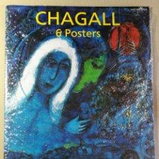 Arte: CARPETA DE 5 LÁMINAS POSTER COLECCION MARC CHAGALL 44X31 CM OBRAS MAS FAMOSAS 1990 PAPEL GRUESO. Lote 128780159