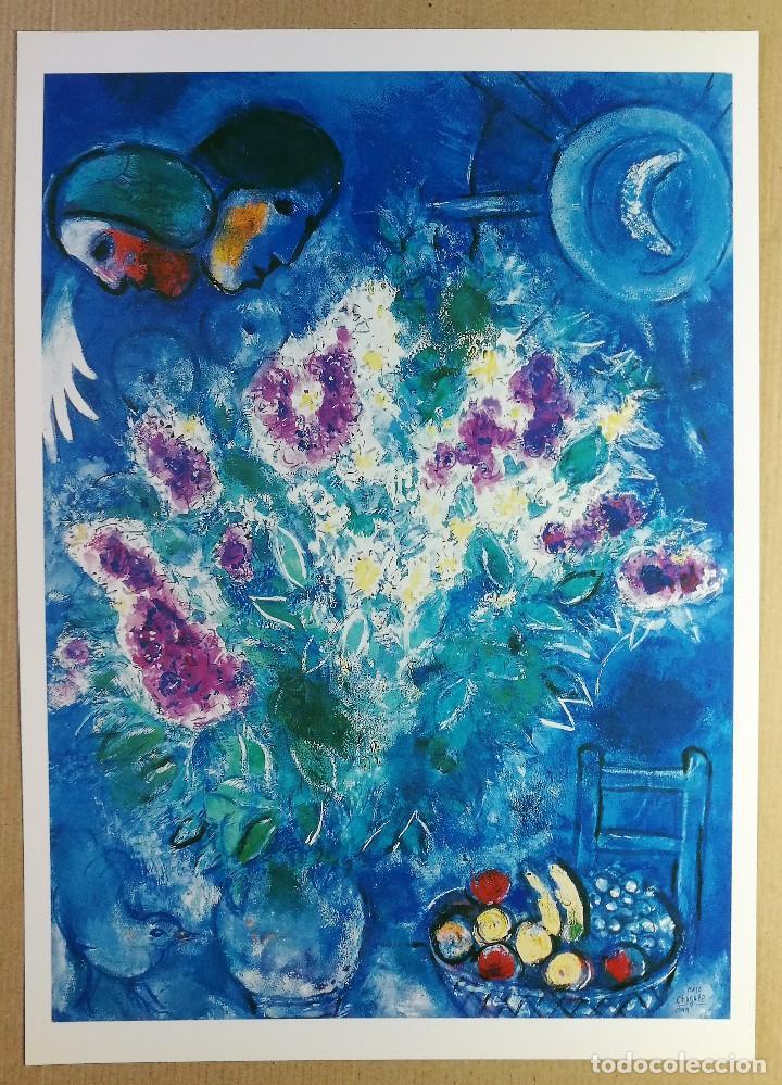 Arte: CARPETA DE 5 LÁMINAS POSTER COLECCION MARC CHAGALL 44X31 CM OBRAS MAS FAMOSAS 1990 PAPEL GRUESO - Foto 8 - 128780159