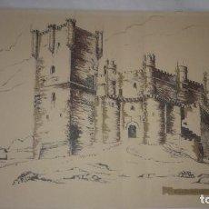 Arte: LÁMINA CASTILLO GUADAMUR (TOLEDO). Lote 129388227