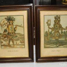 Arte: BBB LARMESSIN OFICIOS GROTESCOS 2 LAMINAS ANTIGUAS CON MARCO HABIT DE JARDINIER Y HABIT D´ORLOGEUR. Lote 129451175