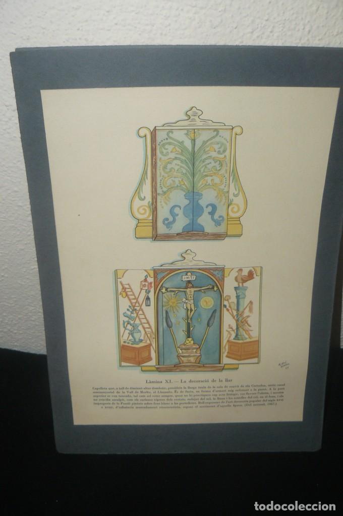 ANTIGUA LÁMINA - LA DECORACIÓ DE LA LLAR LAMINA XI - EN CATALÁN (Arte - Láminas Antiguas)