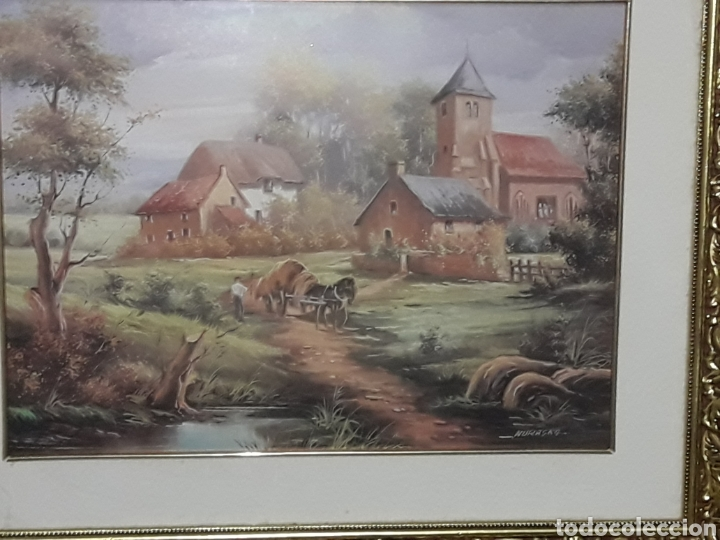 CUADRO LAMINA FIRMADA NURASKA (Arte - Láminas Antiguas)