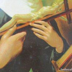 Arte: ANTIGUA LÁMINA IMPRESA DE:SANTA RITA- MIDE: 43.5 X 34 CM.. Lote 132930142