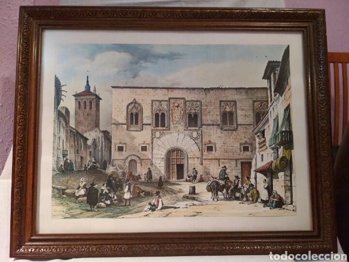 ANTIGUA LAMINA, DEL PALACIO DE LOS MOMOS, ZAMORA (Arte - Láminas Antiguas)