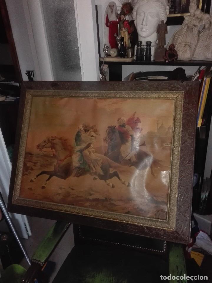 LÁMINA ENMARCADA. ORIENTALISTA.SIGLO XIX. (Arte - Láminas Antiguas)