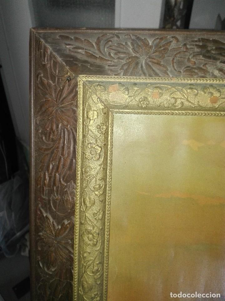 Arte: Lámina enmarcada. Orientalista.siglo XIX. - Foto 8 - 134551606