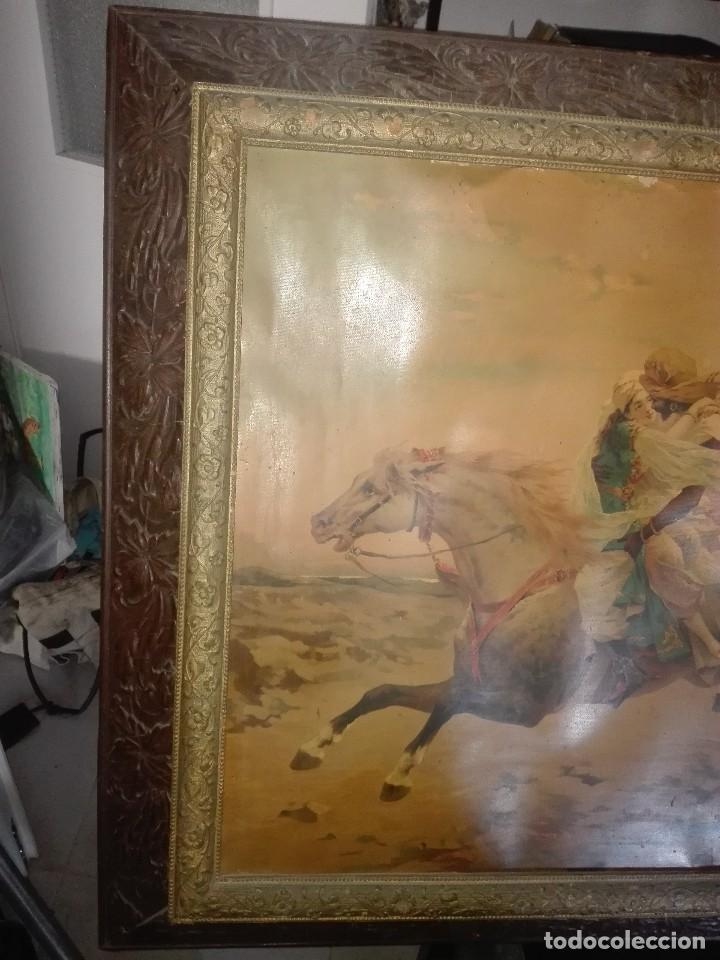 Arte: Lámina enmarcada. Orientalista.siglo XIX. - Foto 9 - 134551606
