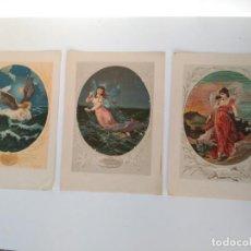 Arte: LOTE DE 3 LÁMINAS PARA ENMARCAR (VER FOTOS). Lote 135501018