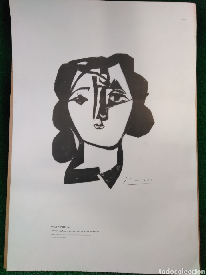 PABLO PICASSO,1981 CABEZA DE MUJER EDICIÓN MUSEO STEDELIJK (Arte - Láminas Antiguas)
