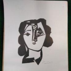 Arte: PABLO PICASSO,1981 CABEZA DE MUJER EDICIÓN MUSEO STEDELIJK. Lote 135690010