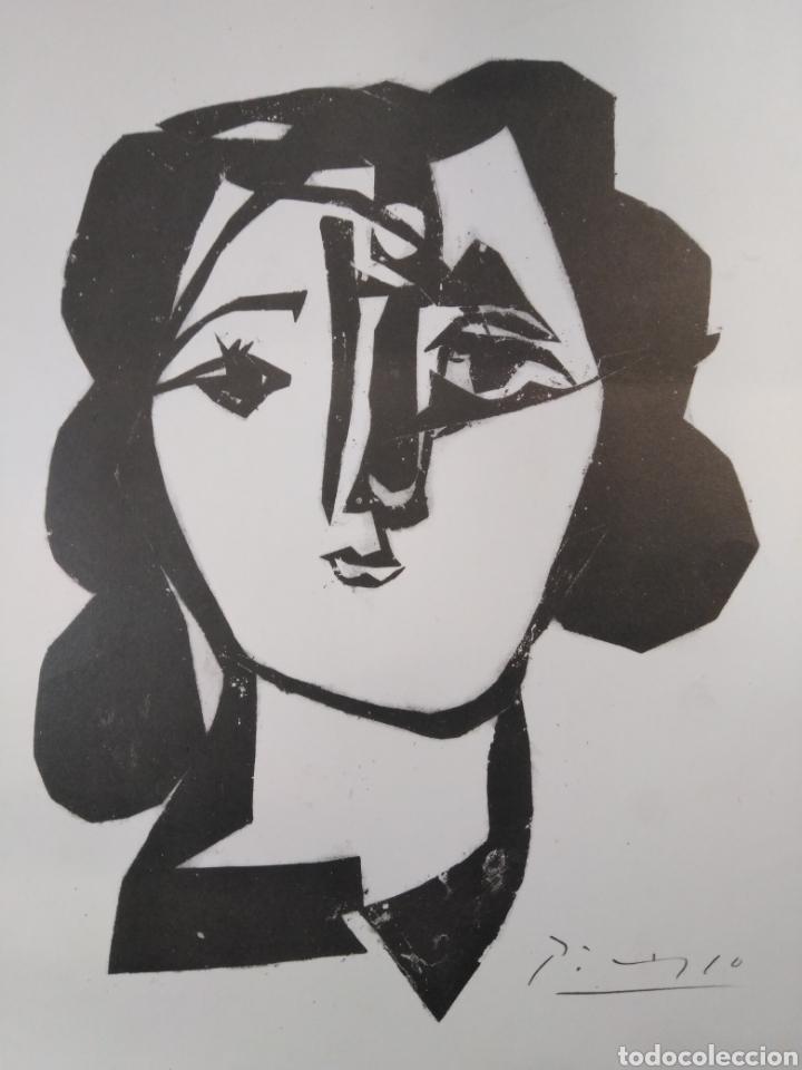 Arte: PABLO PICASSO,1981 CABEZA DE MUJER EDICIÓN MUSEO STEDELIJK - Foto 2 - 135690010