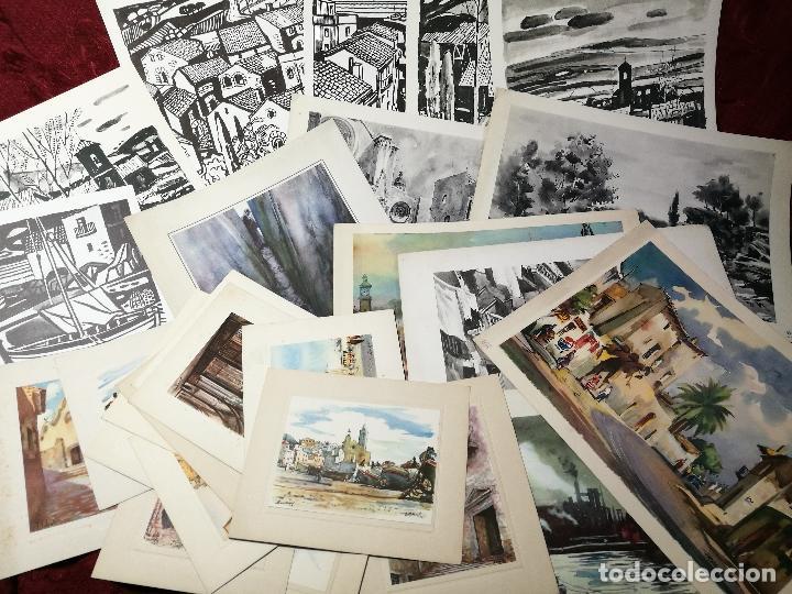 26 LAMINAS ORIGINALES LLOVERAS-CASALS-SABATE- FRESQUET-SEGRELLES-ETC--VER FOTOS (Arte - Láminas Antiguas)