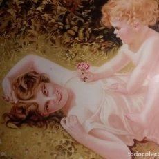 Arte: ANTIGUA LAMINA ENMARCADA ALEGORIA A LA MADRE EN MUY BUEN ESTADO VER FOTOS Y DESCRIPCION. Lote 135868010