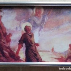 Arte: MARTIRIO DE SAN ESTEBAN - LÁMINA ENMARCADA CRISTAL 19 X 14. Lote 136290906