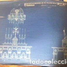 Arte: LÁMINA ANTIGUA PROYECTO DECORACIÓN RELIARIO CASA - LOYOLA . DE MANUEL MARIA DE SMITH. Lote 136991394