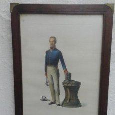 Arte: ANTIGUA LAMINA MILITAR DE JOSÉ LUIS ROMÁN ENMARCADA , 55 X 39 CM. Lote 138923354