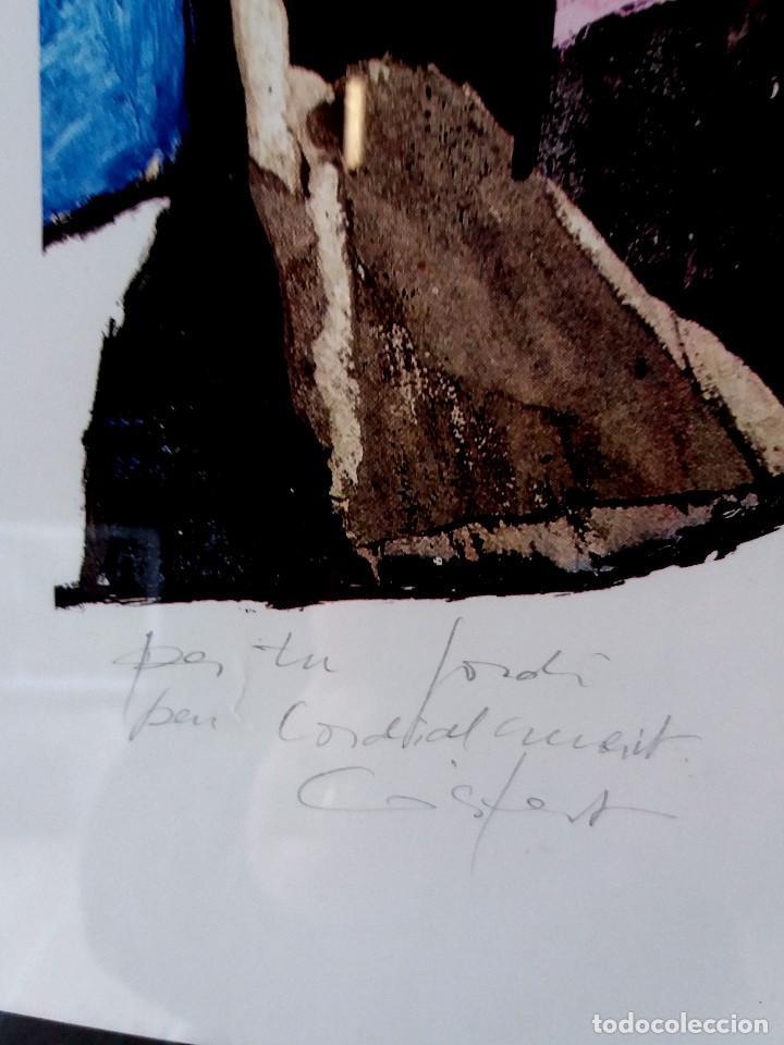 Arte: LÁMINA JORDI GISPERT (SALT -GIRONA) CON DEDICATORIA DEL AUTOR -ENMARCADO - Foto 3 - 138957186