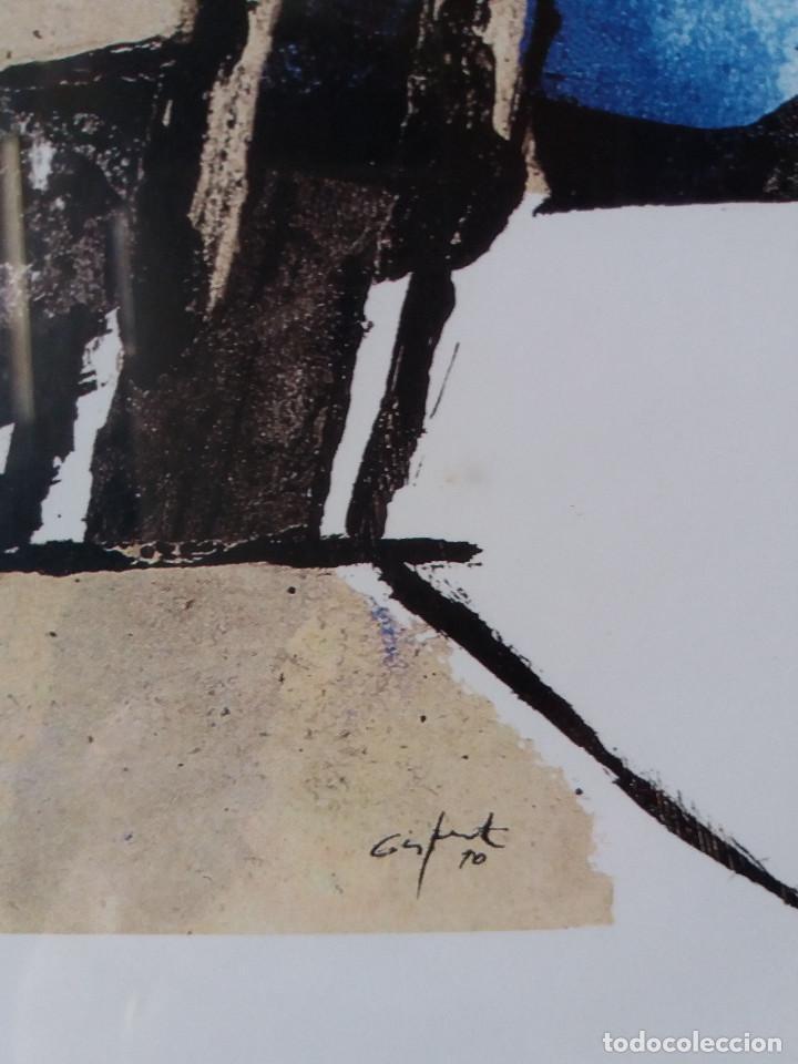 Arte: LÁMINA JORDI GISPERT (SALT -GIRONA) CON DEDICATORIA DEL AUTOR -ENMARCADO - Foto 4 - 138957186