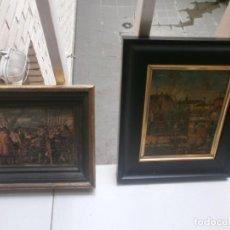 Arte: PAREJA DE CUADROS LÁMINAS SOBRE MADERA ENMARCADAS RENDICIÓN BREDA - PAISAJE MEDIDA 23 X 20 EL GRANDE. Lote 139719522