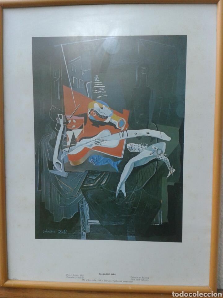 POSTER - LAMINA - PESCADO Y BALCON 1927 - SALVADOR DALI - EDICIONES DASA S.A. COLECCION PARTICULAR (Arte - Láminas Antiguas)