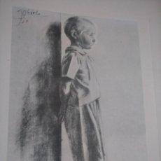 Arte: LAMINA NIÑO APOYADO SOBRE PARED PIE DESCALZO OBRA JOSEP OBIOLS 1945 ARCHIVO DEL ARTE JUAN TEIXIDOR. Lote 141011870