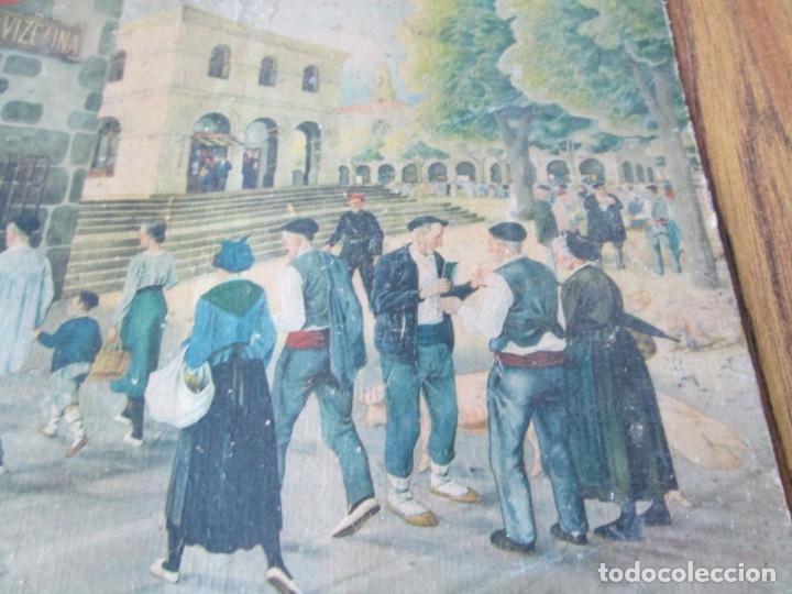 Arte: Lámina paisaje con vascos - Estilo Arrue - Propaganda la caja de ahorros Vizcaina - Foto 2 - 141145062