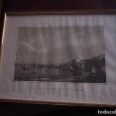 Arte: MAHON. 2 DISTINTAS VISTAS DE UNA PARTE DEL PUERTO Y CIUDAD DE MAHON. 1956. ENMARCADAS . Lote 142222646