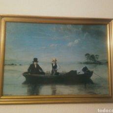 Arte: PESCA EN EL ESTRECHO DE LONG ISLAND A LA ALTURA DE NEW ROCHELLE - CLONNEY, JAMES GOODWYN. Lote 142297752